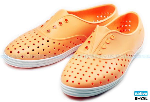 Native 新竹皇家 JERICHO 螢光橘  輕量 懶人鞋 女款 NO.I5176