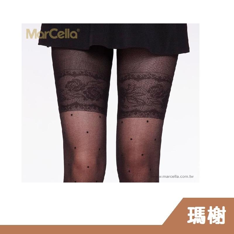 RH shop 瑪榭  美肌膝上蕾絲點點褲襪/絲襪 MA-9901/02