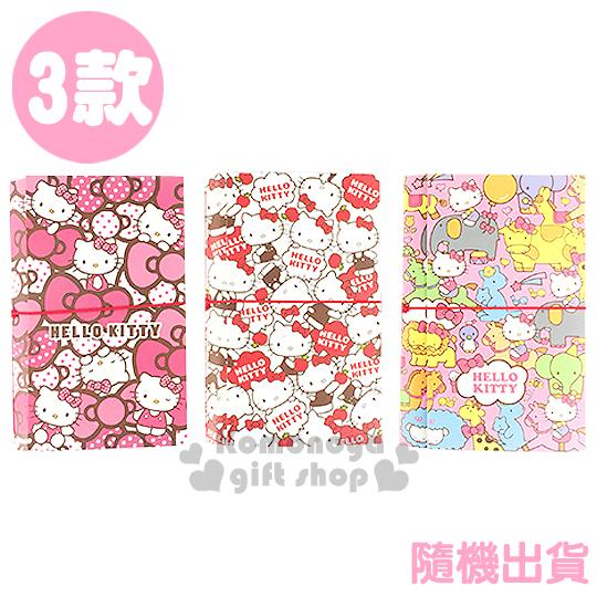 〔小禮堂〕Hello Kitty 筆記本《3款.隨機出貨.小.60k.粉/白.動物/蘋果/蝴蝶結.滿版》
