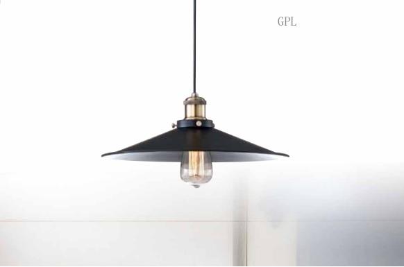 鐵黑 單吊燈 E27 * 1