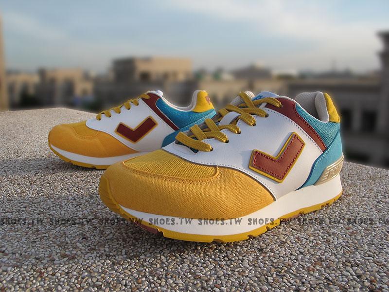 [25.5cm]《超值5折》Shoestw【52W1SO66EY】PONY SOLA-T 復古慢跑鞋 內增高 黃白咖啡 古著