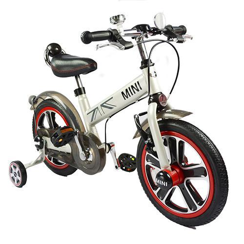 【淘氣寶寶】英國原廠授權Mini Cooper 兒童腳踏車14吋(白)【贈:天然草本抗菌洗手乳250ml/原價399元】