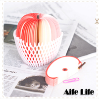 【aife life】創意蘋果便條紙(小)/水果造型便條紙/筆記本/MEMO紙,節日禮品贈品KUSO新選擇