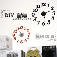 【aife life】超時尚歐風DIY壁鐘/時鐘,簡易安裝隨手黏貼就很時尚~!辦公室、居家最好用的裝飾品