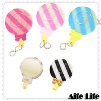 【aife life】棒棒糖造型美妝鏡/化妝鏡/隨身鏡,造型小巧可愛,方便隨身攜帶!