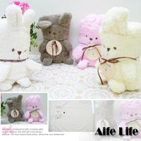 【aife life】迷你兔子小毛毯/日系兔子毯午睡毯懶人毯嬰兒毯冷氣毯空調毯卡通動物造型/保暖