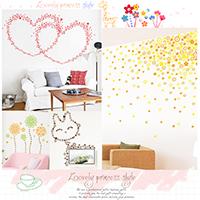 【aife life】彩色小花朵壁貼/牆貼紙牆貼客廳臥室電視背景牆貼婚房花朵浪漫滿屋會場佈置