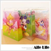 【aife life】迪士尼手提禮物袋/迪士尼正版授權購物袋手把提把收納袋補習袋