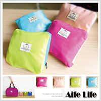 【aife life】折疊手提包/韓系可收納包環保購物袋肩背包旅行袋摺疊收納袋包中包