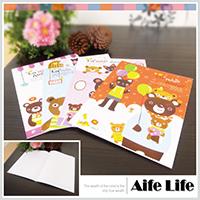 【aife life】韓系熊熊筆記本/日韓手冊手札日記萬用塗鴉本雜記