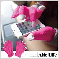 【aife life】觸控螢幕保暖手套/電容式觸控螢幕平板電腦智慧型手機保暖手套