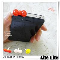 【aife life】iPhone/htc/智慧型手機/蝴蝶結/小花朵造型耳機孔防塵塞/耳機塞/防潮塞,歡迎大量批發!