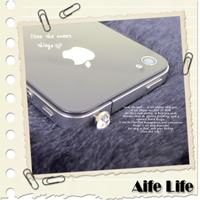 【aife life】施華洛士奇水鑽耳機孔防塵塞/iPhonehtc智慧型手機鑽石耳機塞防潮塞歡迎大量批發