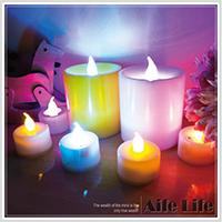 【aife life】七彩聲控大蠟燭燈/杯燈生日蠟燭小夜燈造型燈婚禮佈置LED可吹熄蠟燭燈