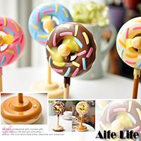 【aife life】彩糖巧克力甜甜圈風扇/桌上型電池USB電風扇電腦筆電
