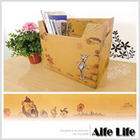 【aife life】綠野仙蹤復古收納盒/雜誌盒儲物盒置物盒環保收納盒整理收納手提