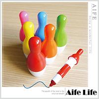 【aife life】保齡球瓶造型筆/伸縮保齡球筆多色保齡球圓珠筆保齡球伸縮筆廣告筆