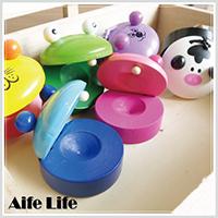 【aife life】動物造型響板/兒童樂器木質響板相聲樂隊節奏打擊樂器表演道具响板
