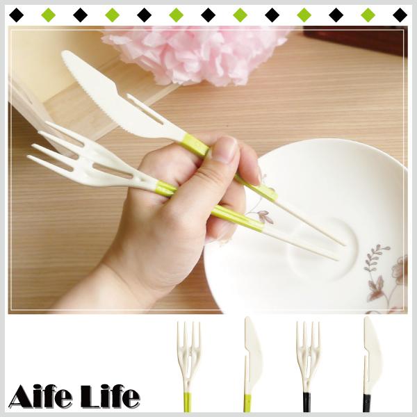【aife life】刀叉筷組合餐具/環保餐具組 環保衛生餐具 刀子 叉子 筷子