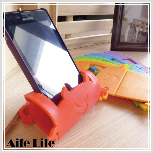【aife life】惡魔萬用收納座/智慧型手機 iphone手機座支架遙控器座遊戲搖桿座便條紙座