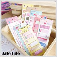 【aife life】韓系卡通便條貼/N次貼便條紙便簽本便條本隨身本memo紙留言便利貼重點標籤指示貼
