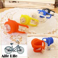 【aife life】矽膠七彩LED青蛙燈/閃光燈 警示燈 LED燈 腳踏車燈 自行車燈 小折自行車配件