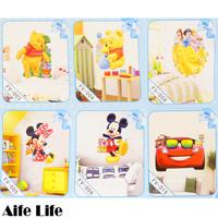 【aife life】迪士尼3D立體壁貼/Disney維尼創意壁貼 居家佈置 裝飾貼紙 窗貼 立體牆貼