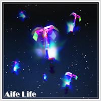 【aife life】LED彈射高空發光竹蜻蜓/夜市熱賣LED高空竹蜻蜓/彈力飛箭/LED發光飛碟/彈力飛空蜻蜓