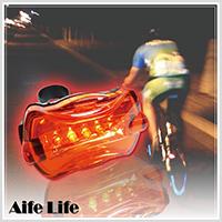 【aife life】5LED 高亮度腳踏車尾燈 ,夜間安全/警示/自行車/閃光車尾燈,附專用快拆腳架