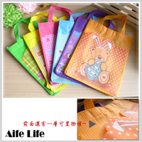 【aife life】卡通雙層A4購物袋/手提袋 收納袋 補習袋 多功能收納袋 贈品禮品