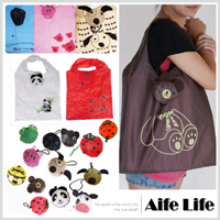【aife life】大頭動物折疊環保袋/購物袋,為地球多盡一份心力,好攜帶贈品禮品最大方!!