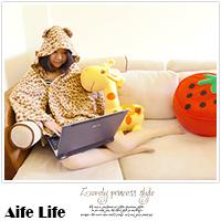 【aife life】★2件免運費★韓國熱賣夢遊娃娃款宅人小耳朵披肩,點點/豹紋/熊熊連帽,冷氣毯/空調被/披風/毛毯/袖毯/斗篷/保暖