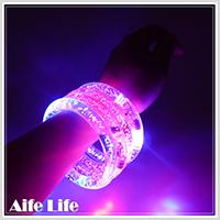 【aife life】閃光LED手環/LED燈夜光手環運動手環壓克力發光手環LED手鐲演唱會造勢活動尾牙派對
