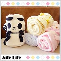 【aife life】日韓系可愛動物毛毯/午睡毯/懶人毯/嬰兒毯/冷氣毯/空調毯/披肩/折疊毛毯/保暖