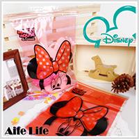 【aife life】MIT迪士尼卡通夾鏈袋-大(6入28*20cm)/糖果袋/收納袋/包裝袋/禮物袋/台灣製造
