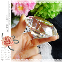 【aife life】750克拉水晶鑽石擺飾-直徑6cm/可刻字/超大鑽戒/求婚告白/情人節禮物/婚禮小物/婚紗攝影