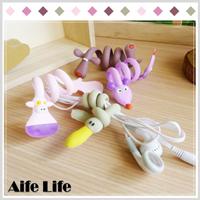 【aife life】動物造型繞線器/可愛動物捲線器 理線器 整線繩 繞線器 電線整理器 電線收納