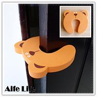 【aife life】U型動物造型海綿門擋,幼兒家居安全用品,安全防夾門檔,馬蹄型門卡,U型門檔