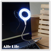 【aife life】USB 18LED蛇燈/LED蛇燈/閱讀燈/可彎曲led燈/LED小夜燈/可接行動電源變露營燈