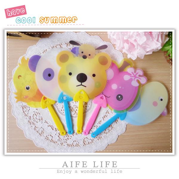 【aife life】卡通動物扇-小/手搖扇/扇子/卡通O型扇/手風扇/造型手搖扇/禮品贈品