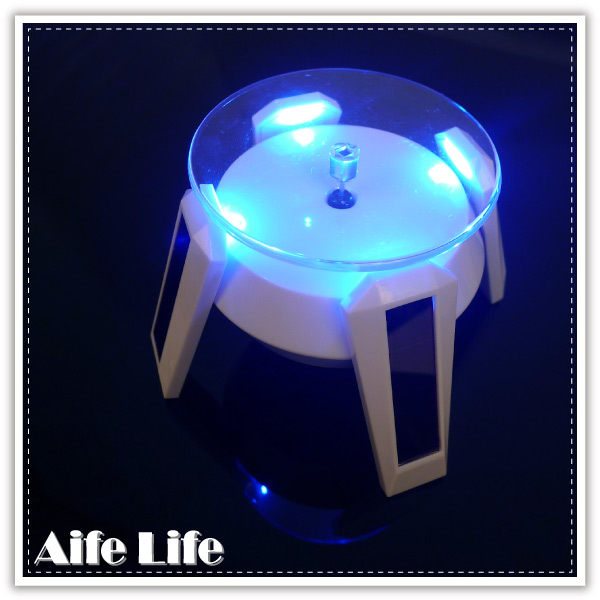 【aife life】四腳太陽能LED燈展示架/LED燈旋轉台/旋轉展示檯/展示架/產品展示台
