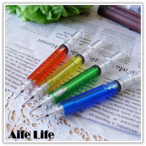 【aife life】韓國針筒造型自動鉛筆,宣傳/開幕活動/畢業/禮贈品最佳選擇