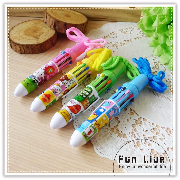 【aife life】可掛式10色原子筆/掛繩10合1原子筆/項鍊筆/多色中性筆/宣傳贈品筆,開幕活動贈品禮品!多色