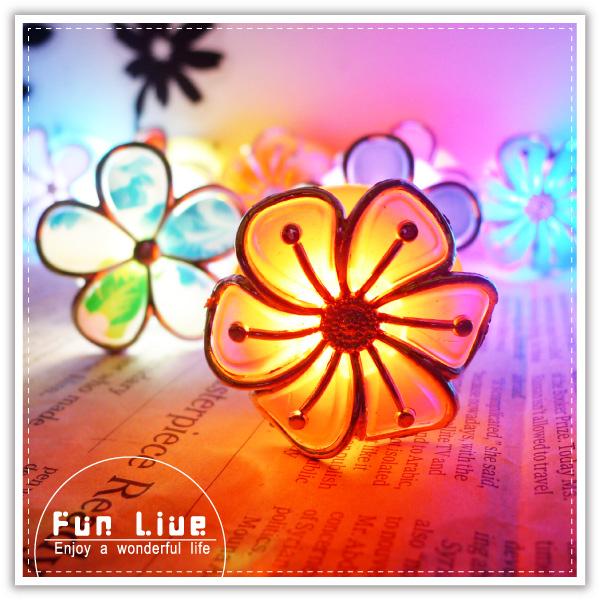 【aife life】黏貼式花朵LED燈/小花七彩LED燈/小夜燈/情境燈/居家活動裝飾/吸盤燈/壁燈