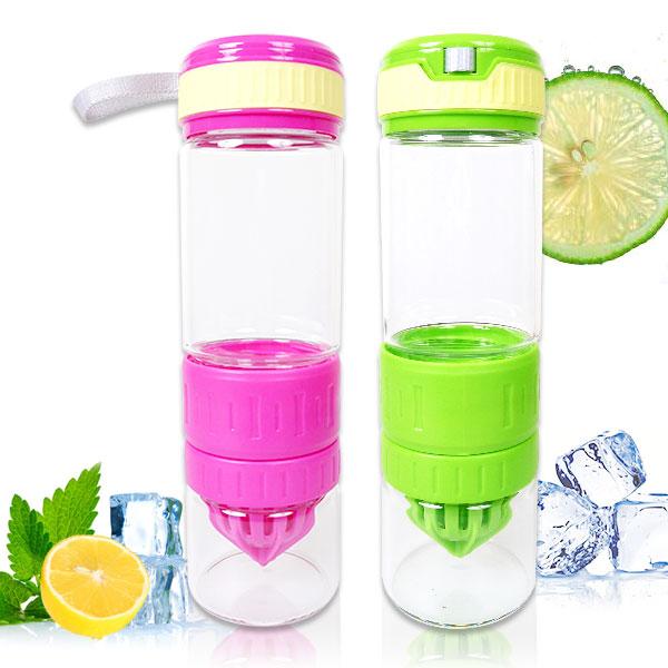 【aife life】魔法纖果瓶-玻璃/檸檬杯/玻璃榨汁杯/玻璃檸檬杯/水杯/夏日解渴必備