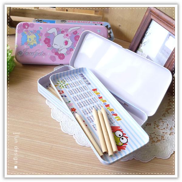 【aife life】三麗鷗卡通雙層鉛筆盒/三麗鷗正版授權/台灣製造/文具收納/鐵製鉛筆盒/鉛筆袋/收納盒