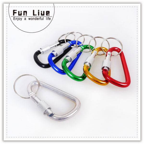 【aife life】可鎖式快扣/登山扣環/快扣/外掛/鑰匙圈/DIY鑰匙圈/登山環