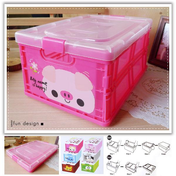 【aife life】超可愛A4尺寸可愛卡通動物折疊收納盒/摺疊儲物盒!可愛大容量!