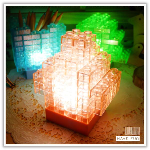 【aife life】DIY積木燈/果凍拼圖積木/小夜燈/小檯燈/造型燈/裝飾燈/夜店 PUB KTV 晚會