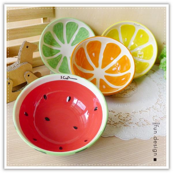 【aife life】日系彩釉水果陶瓷碗/水果造型碗/釉彩水果碗/陶瓷沙拉碗/碗盤/瓷器/餐具